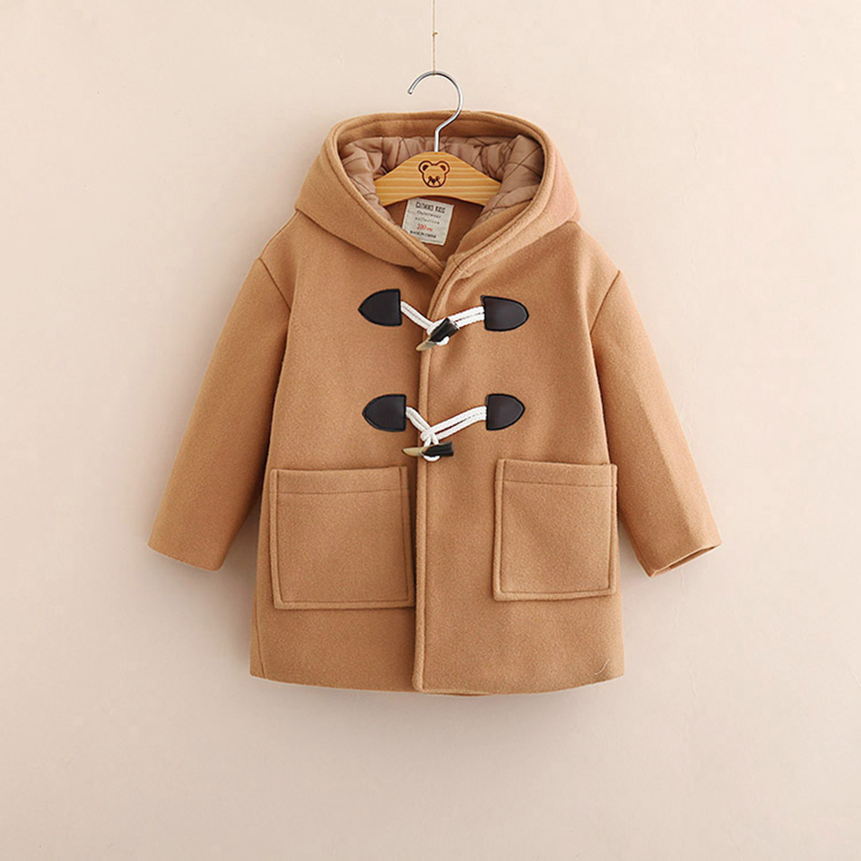 IMMDOS Winter Jacket for Boy Kids Thicken Wool Coat Children Hooded Coats for Boys 2018 Fashion Jackets For Boys New Clothes цена