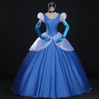 Hero Catcher High Quality Princess Cinderella Costume Cinderella Blue Dress Cinderella Stage Costume Princess Blue Dress