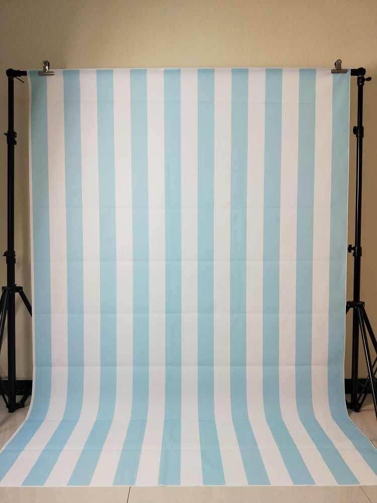 White Blue Stripe Backdrop Birthday Party Dessert Table Decorations Vinyl Background Baby Shower XT