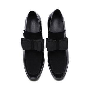 Image 4 - FITWEE rozmiar 33 43 damskie buty na wysokim obcasie buty ze skóry naturalnej Bowknot Dropshipping botki buty wiosenne jesienne buty damskie