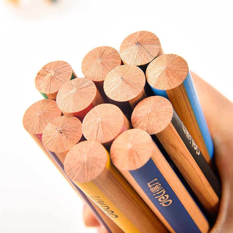 מעדנייה עץ עפרונות צבעוניים 6/12 צבעים ילדי של ציור עפרונות עבה מוט צבע עופרת גן ציור סט אספקת אמנות