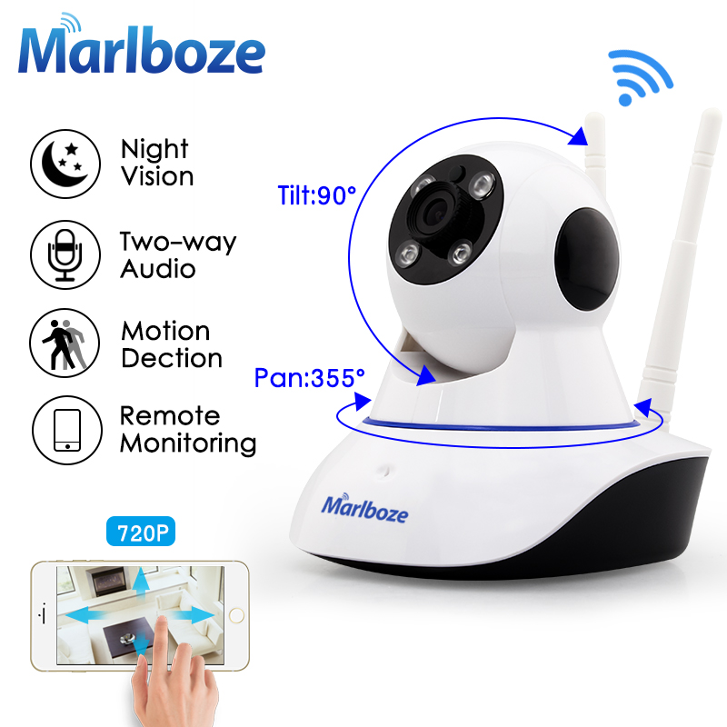 Two Antenna 720P HD wifi IP camera Day Night Pan Tilt IR Motion detect Audio 64G TF Card APP Alarm Push Local Alarm wireless wifi ip cctv camera 960p ptz remote control pan tilt two way audio motion detection ir night vision tf card storage