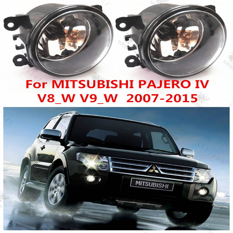For Mitsubishi PAJERO 4  2006-2015  Fog Lights Lamps Halogen Car Styling  MN182284 for lexus rx gyl1 ggl15 agl10 450h awd 350 awd 2008 2013 car styling led fog lights high brightness fog lamps 1set