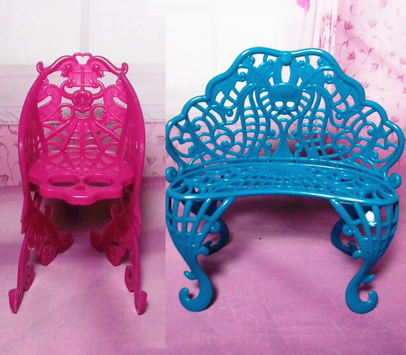 AILAIKI NEW Arrival Demon Monster Doll Plastic Travel Accessories Table/ Chair/Bench/Umbrella Set Toy Furniture For 1/6Doll Toy-in Dolls Accessories from ... : monster high table and chairs - Cheerinfomania.Com