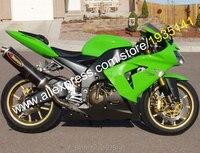 Лидер продаж, для Kawasaki NINJA ZX 10R 2004 2005 ZX 10R 04 05 ZX10R зеленый черный Aftermarket мотоциклов обтекателя (литья под давлением)