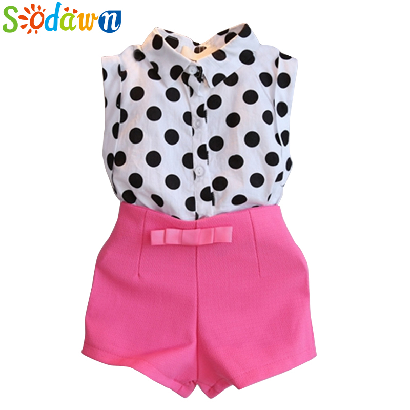 Sodawn New Summer Girls Clothing Sets Girl Baby Clothes