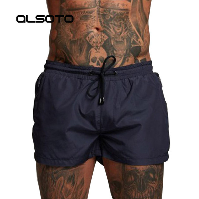2019 Summer Swimwear Men Swimsuit Swimming Trunks Boxer Short Sexy Mens Swim Briefs Beach Shorts Surf Board mayo Wear sunga Suit