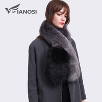 VIANOSI Fashion Winter Faux Fur Sjaal Vrouwen Faux Bontkraag Kleurrijke Patchwork Sjaal Milieuvriendelijke VA264