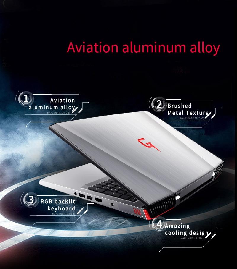HTB1PAtDgh3IL1JjSZPfq6ArUVXaZ BBen G16 15.6'' Laptop Windows 10 Intel i7 7700HQ GTX1060 16GB RAM 256GB SSD 1T HDD Metal Case Backlit Keyboard IPS WiFi BT4.0