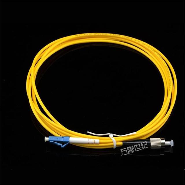 50 unids/lote FC-LC 3 M monomodo jumpers de fibra de un solo núcleo/conector de fibra óptica cable de fibra óptica/pigtail