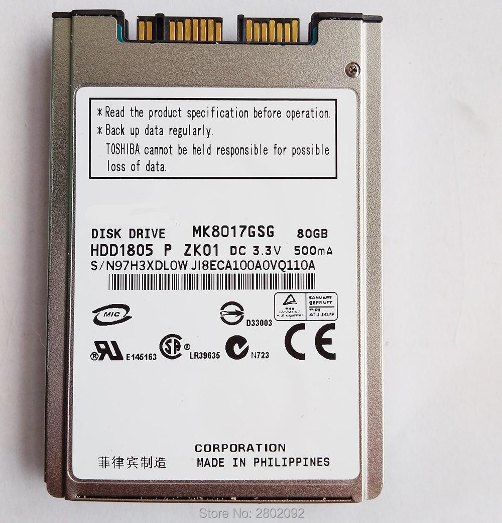 NEW 80GB  HDD 1.8 MicroSATA MK8017GSG FOR HP 2740p 2730p 2530p 2540p IBM x300 x301 T400S T410S REPLACE MK2529GSG MK1633GSGNEW 80GB  HDD 1.8 MicroSATA MK8017GSG FOR HP 2740p 2730p 2530p 2540p IBM x300 x301 T400S T410S REPLACE MK2529GSG MK1633GSG