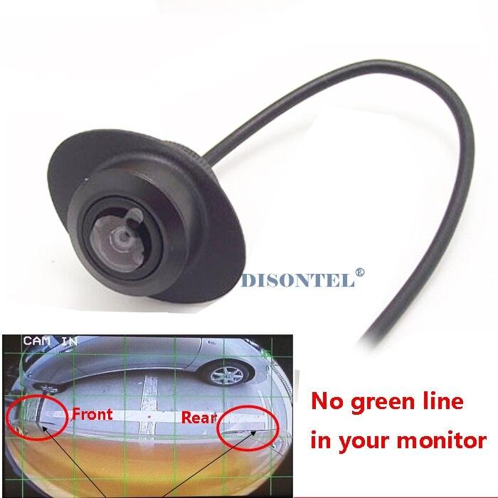 CCD 180 Degree Car Camera Reversing backup rear view camera Front Side view camera parking assist waterproor HD night vision