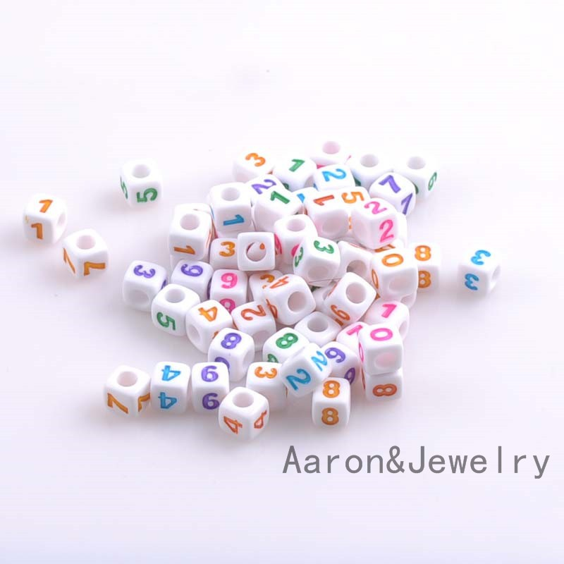 7mm 100pcs Mixed Color White Number Cube Acrylic Neon Beads For Jewelry Making Diy Ykl0358x Perfect In Workmanship Beads & Jewelry Making Jewelry & Accessories