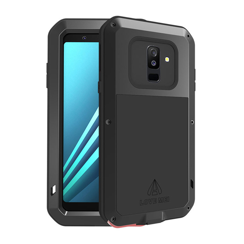 Boîtier métallique Pour Samsung Galaxy A6 2018 Cas A8 Antichoc Étanche Full Body De Protection Armure Pour Cas Samsung A6 2018 plus UN 6
