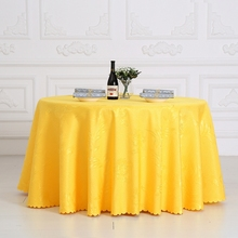 Pteris Flower Rectangle Small Polyester Jacquard Hotel Restaurant Tablecloths Wedding Table Round Cloth For