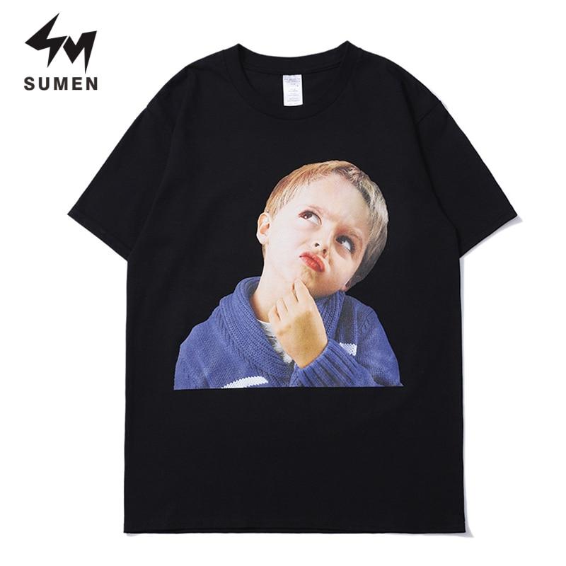 Sumen T Shirt Men Summer Skateboard Tee Boys Hip Hop Skate Tops Short Sleeve Hot Sale Plus Size Funny Cool Tops Tees Shirts
