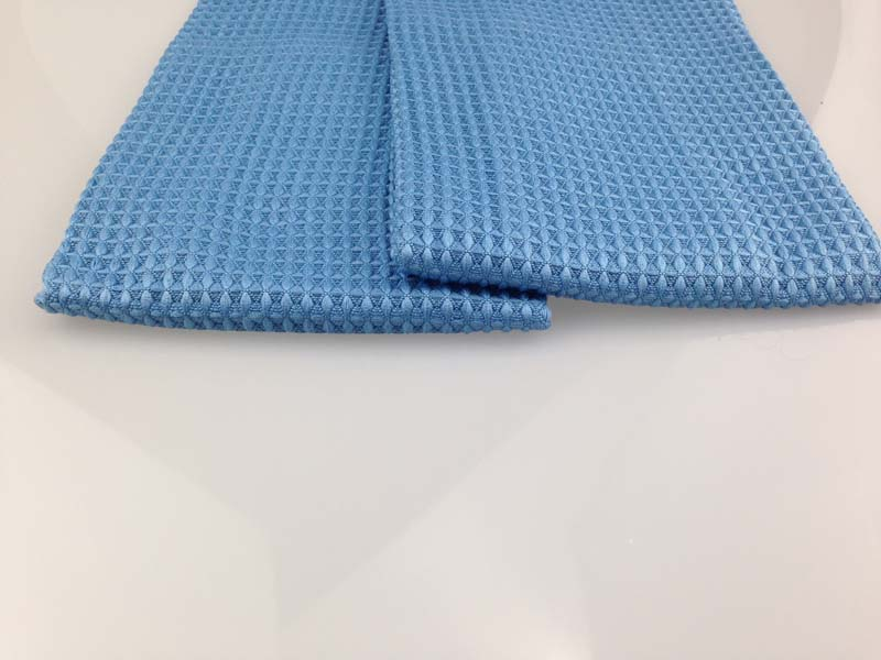 35*35cm Blue Super Absorbent Microfiber Waffle Weave Cleaning Towel For Bathroom,Kitchen