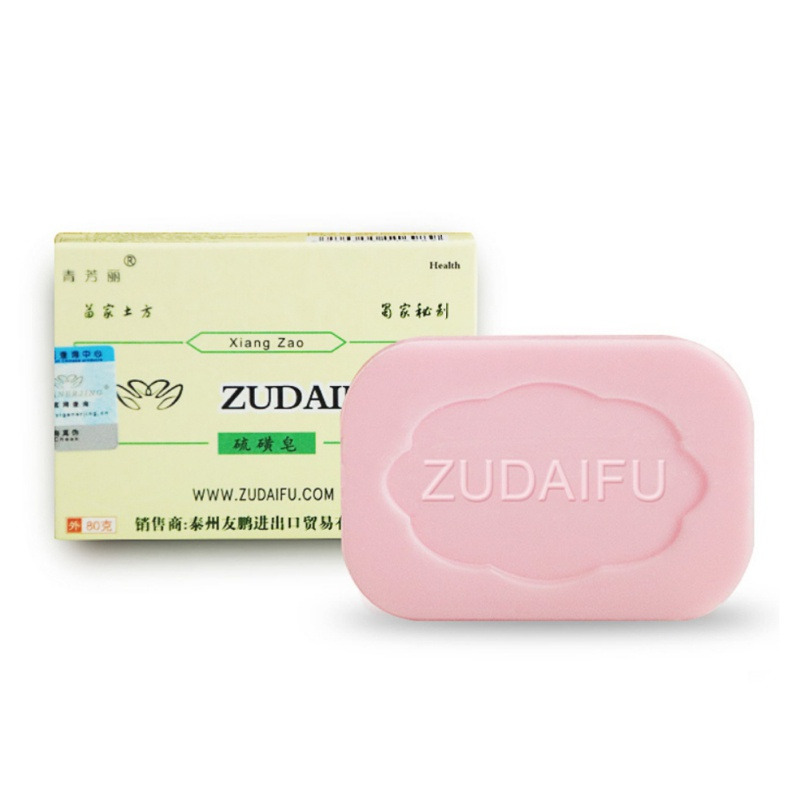 Sulfur Soap Skin Care Conditions Acne Psoriasis Seborrhea Eczema Anti Fungus Bath Healthy Body Drug Bactericidal Soaps 80g