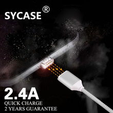 SYCASE Magnetic charger Micro Usb Data Cable for iPhone 7 6 s Plus Magnetic Cable font