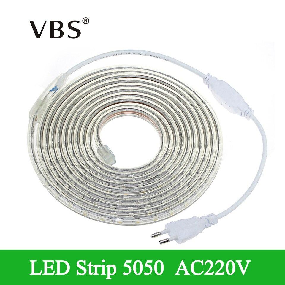 220v smd 5050 flexible led strip light 1m 3m 4m 5m 8m 9m. Black Bedroom Furniture Sets. Home Design Ideas