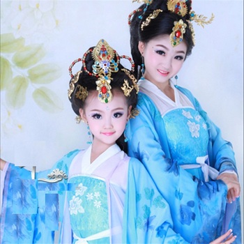 Jue Dai Yi Ren Tang Princess Mum and Daughter Parent Child Costume Sets Trditional Hanfu Stage Performance Costume Hanfu you zi yin tang dynasty prince and empress costume parent child costume sets mother son stage clothing