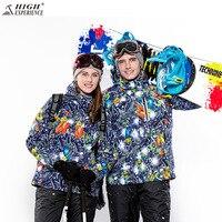 Winter Lover Skiing Jacket 2017 NEW Men And Women Ski JacketSuper Warm Clothing Skiing Snowboard Jacket