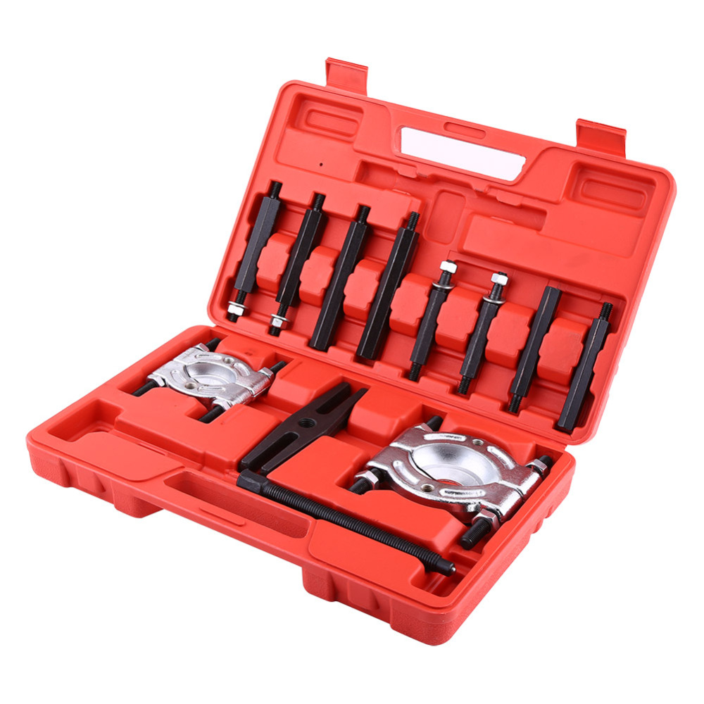 12 Pcs/set Bearing Splitter Gear Puller Fly Wheel Separator Set With Blow Mold Tool Kit Top Quality