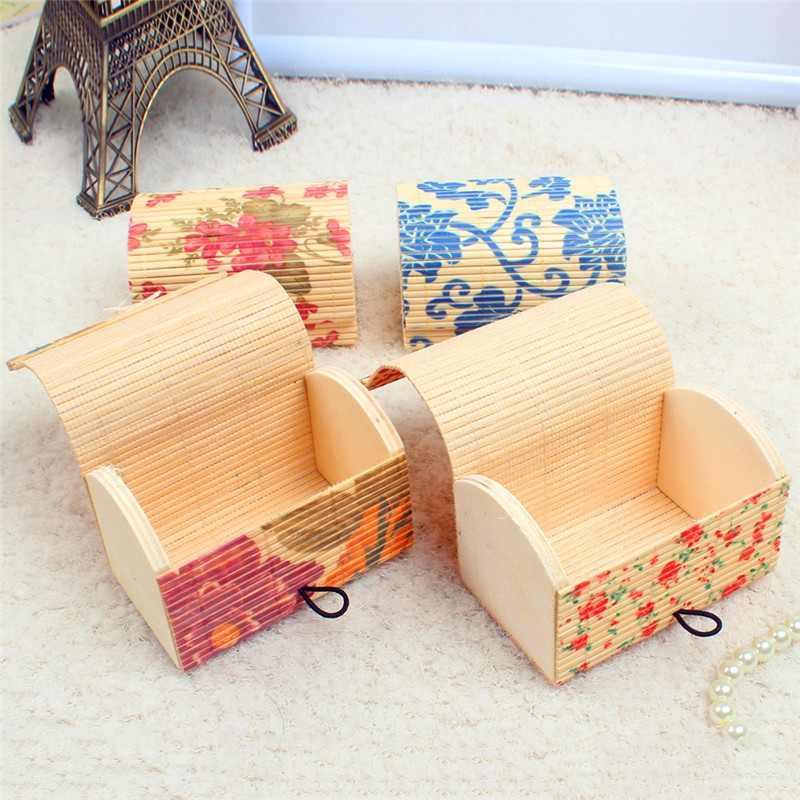 New Design Handmade Earrings Display Bamboo Wooden Case Jewelry Storage Organizer Box Gifts for Women