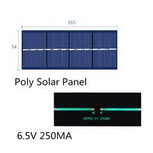 Poly Solar Panel 6.5V 250MA for Solar Epoxy Assembly Flashlight Dedicated 165*65MM
