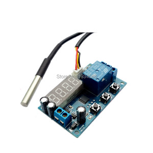Image 5 - 12V High precision Intelligent Thermoregulator Thermostat Temperature Controller DS18B20 Sensor Delay Timer Time Relay Switch