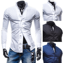 Zogaa 2019 Fashion Spring Slim Fit Mens Shirts Casual Male Modern Social Business Long Sleeve Dress Shirt Hot Sale