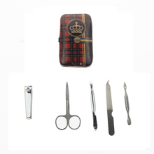5Pcs/Set AliExpress Fast Shipping Imperial Crown Printed Torno Manicura Y Pedicura Manucure Manicure Set Travel Grooming Kit