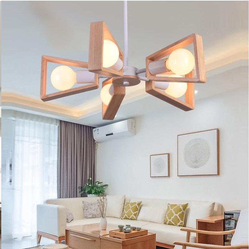 Modern LED Chandelier Creative Simple 3/6/8 Heads Solid Wood Lamp Ceiling chandelier Lighting Home Lighting Bedroom Dining Room kosta урна с крышкой керамика