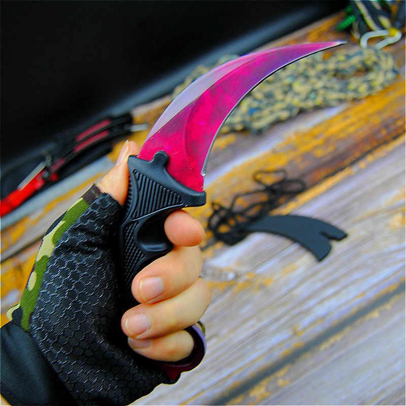 CS ANDARE Ruby red design chic artiglio coltello 9.8-pollici farfalla coltelli formazione con la guaina e corda al collo tattiche artiglio coltello