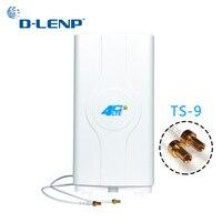 Dlenp 4G LTE антенна MIMO 700-2600 МГц с 2-TS9 Разъем Панель усилителя антенны с 2 метров кабеля 88dBi