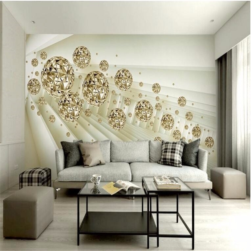 Beibehang Custom large modern 3 d abstract space mural gold abstract HD picture living room bedroom TV wallpaper for walls 3 d
