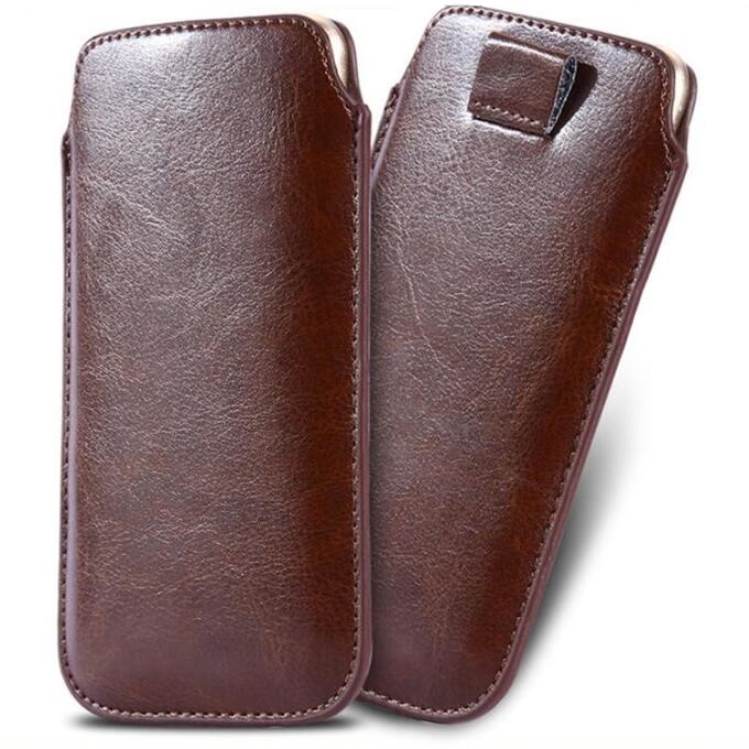 aae00653228 Caja del teléfono para iphone 8 plus caso Universal Pull Tab PU Funda de  cuero para iphone 7 plus funda de teléfono bolsa 5,5 pulgadas