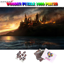MOMEMO Battle At Hogwarts Wooden 1000 Pieces Jigsaw Puzzle Adults Interesting Puzzle Toys 1000 Piece Brain-challenging Puzzles