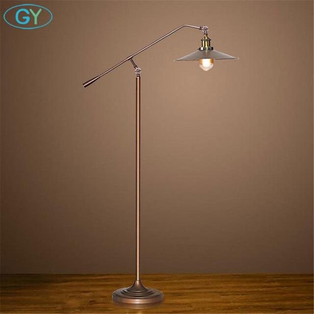 Bronze Black Nordic Led Floor Lamp Vintage Edison Bulb Stand Light For Living Room Reading