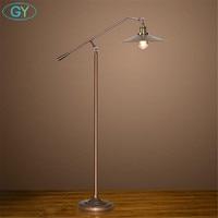 Bronze black Nordic LED Floor Lamp Vintage Edison bulb Stand Light for Living Room reading light Sofa Bedside Reading Piano Lamp