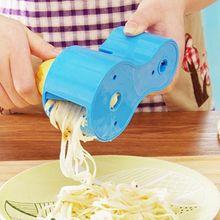 Verduras espiral cortador afilador zanahoria doble rallador rallado máquina de cortar accesorios de cocina alta calidad