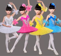 Children Ballet Dance Costume Multicolor Girl Swan Lake Performance Dance Dress Diamond Professional Ballet Skirts Uniforms 89