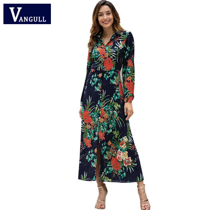 91534058fd Primavera de 2019 nuevo estilo de mujer ropa Bohemia largo vestidos de  manga larga giro abajo Collar de mujer de vestido en Vestidos de Moda y  complementos ...
