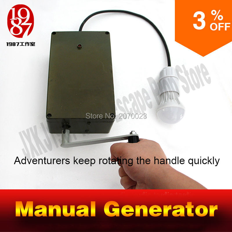 Manual electrical generator props for Room Escape Chamber props Adventurer props escape room game prop control