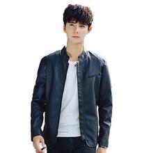 Men Jacket Leather Coats Coat Casual Slim Hip Pop Punk Mens fur Fashion