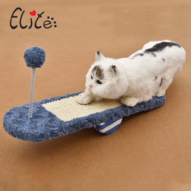 Elite Cat Scratchers Board Natural Sisal Kitten Scratching Post Mat With Ball Toy For Tower Climbing Tree Pad Pet Cat Furniture