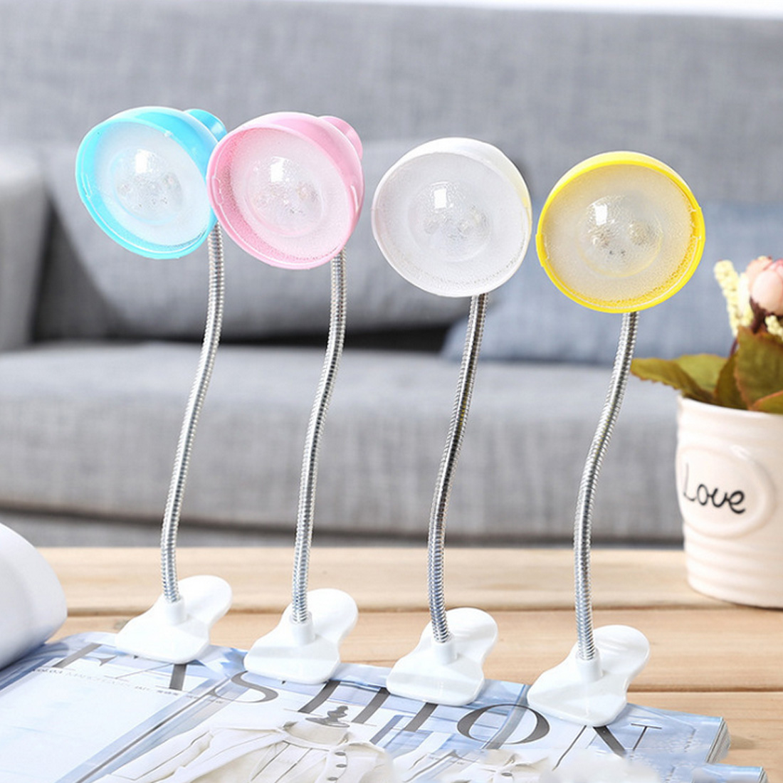 Adjustable Clip-on Night Light Soft Lighting Effect Reading Lamps Mini Portable Cute LED Book Light Flexible Adjustable Clip-on Night Light Soft Lighting Effect Reading Lamps Mini Portable Cute LED Book Light Flexible