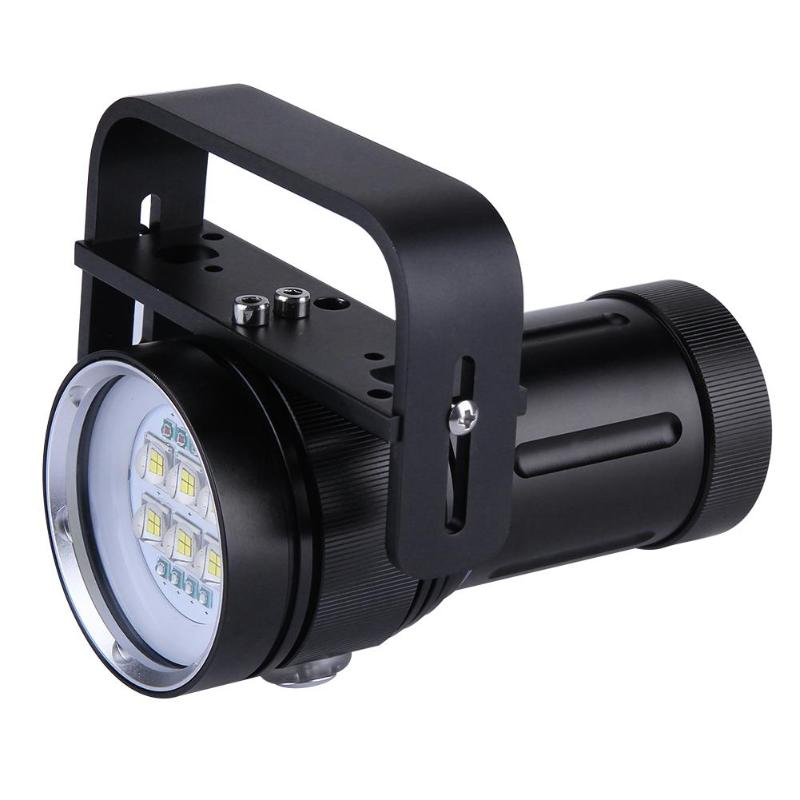 Diving Flashlight 18650 Torch Underwater Photography Lights Video Lamp 14 LED Scuba Photo lighting Fill Light