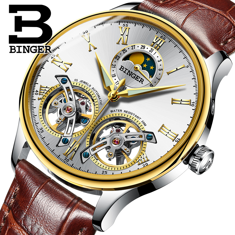 2017 Switzerland Mechanical Men Watches Binger Role Luxury Brand Skeleton Wrist Sapphire Waterproof Watch Men Clock Male9 switzerland mechanical men watches binger luxury brand skeleton wrist waterproof watch men sapphire male reloj hombre b1175g 1