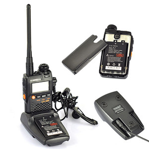 Image 4 - 2 PCS Baofeng UV 3R Portable Mini Walkie Talkie Two Way Ham VHF UHF Radio Station Transceiver Boafeng Dual Double Band Scanner